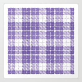 Ultra Violet Tartan Pattern Art Print