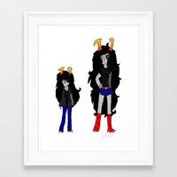 homestuck Framed Art Prints featuring Vriska by Darkerin Drachen