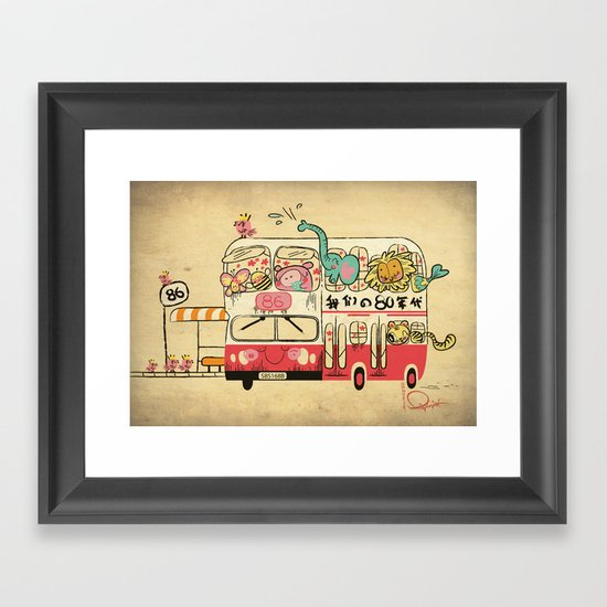 The Childhood Bus Framed Art Print