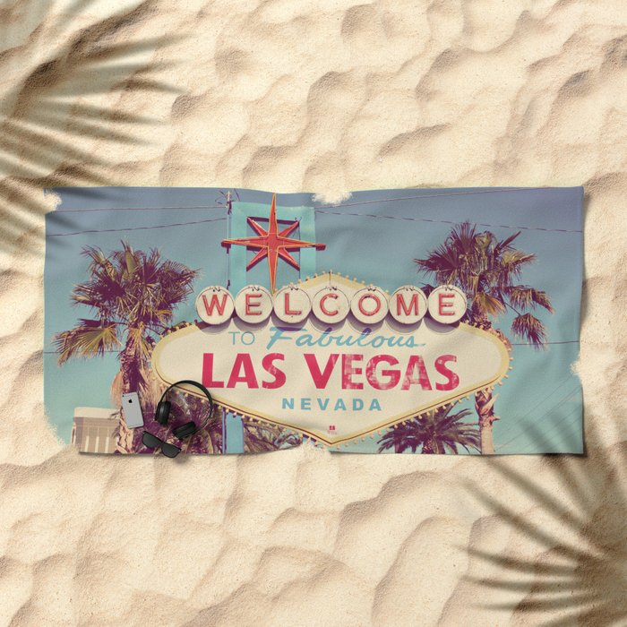 Welcome To Fabulous Las Vegas Beach Towel