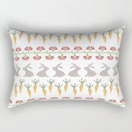Bunnies and carrots  1 Rectangular Pillow
