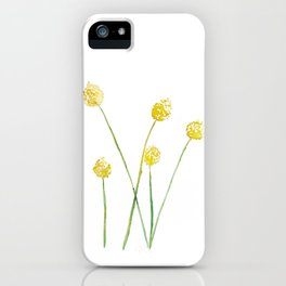 Yellow Billy Button Flowers iPhone Case