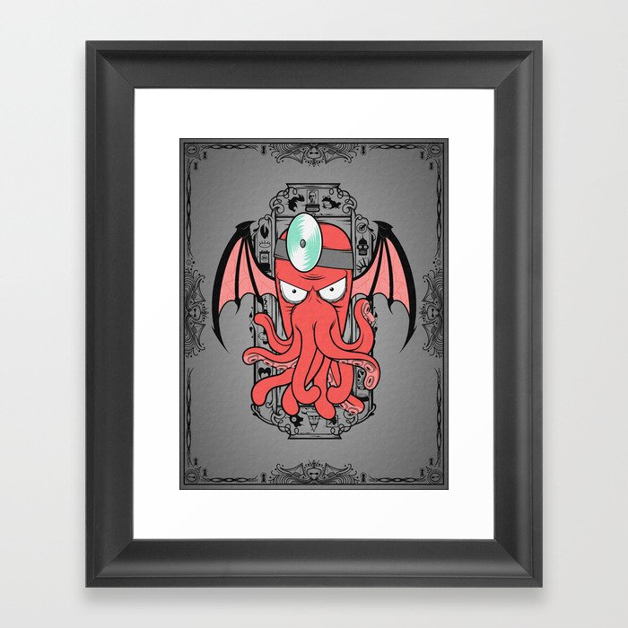 The Call Of Zoidbergthulhu Framed Art Print