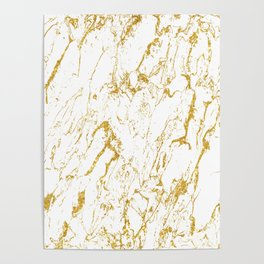Gold finery pattern Poster