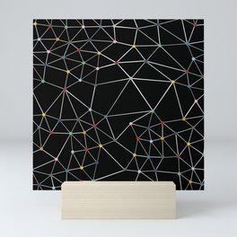 Segment Color Spot Black Mini Art Print