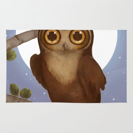 Gallant Great Horned Owl Rug