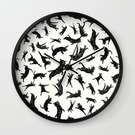 Shadow Cats Space Wall Clock