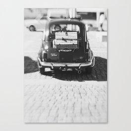 fiat 500 car - his Canvas Print