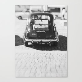 fiat 500 car - his Canvas Print