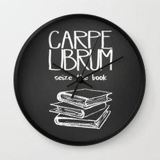 Carpe Librum Wall Clock