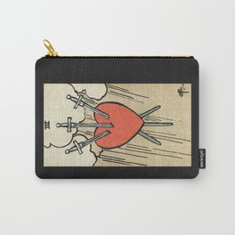 THREE OF SWORDS / BLACK Carry-All Pouch
