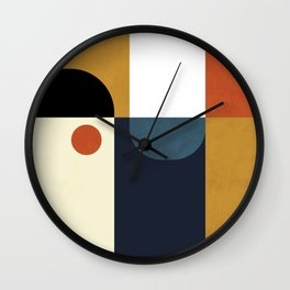 mid century abstract shapes fall winter 4 Wall Clock