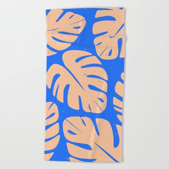 Monstera Leaf Print 5 Beach Towel