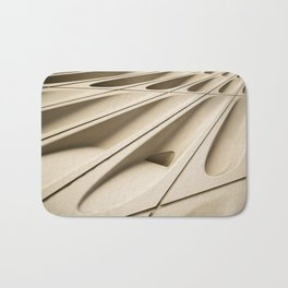 Architectural abstract of the Broad (rhymes with road), Los Angeles, California Bath Mat