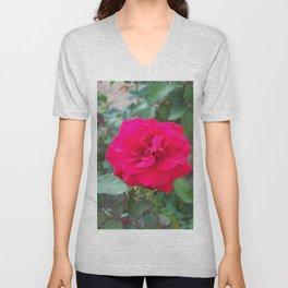 Floral Print 107 Unisex V-Neck