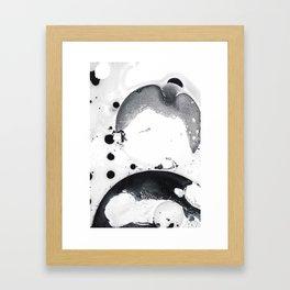 Ink in Milk Black and White liquid Nr.2 Framed Art Print