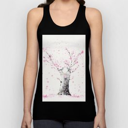Cherry Blossoms And Birds Unisex Tank Top