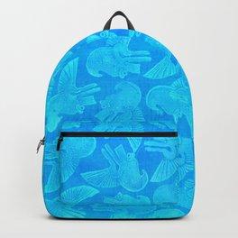 Ehecatyl - Aztec Wind God in Aztec Blue Backpack
