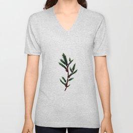 Evergreen Pine Sprig Unisex V-Neck