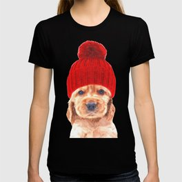 Cocker spaniel puppy with hat T-shirt
