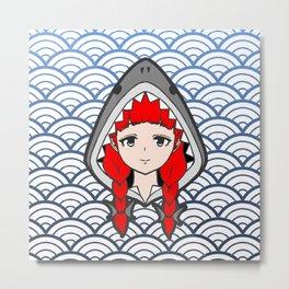 Shark Hood Metal Print