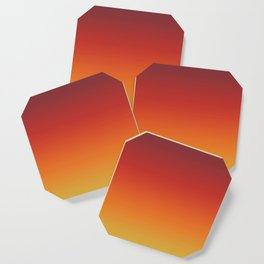 Fall Abstract Autumn Gradient Pattern Coaster