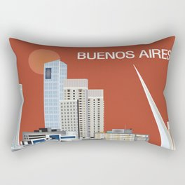 Buenos Aires, Argentina - Skyline Illustration by Loose Petals Rectangular Pillow