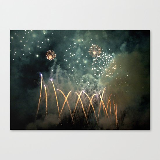 Fireworks Face Canvas Print