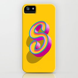 Letter S - 31 Days of Type iPhone Case