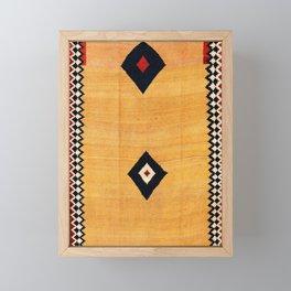 Qashqa'i Fars Southwest Persian Kilim Print Framed Mini Art Print