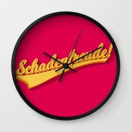 Schadenfreude! Wall Clock
