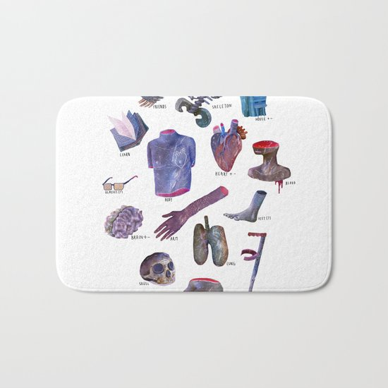 survival kit for human beings Bath Mat