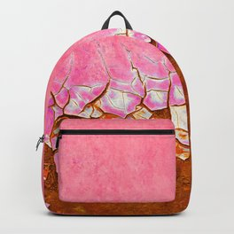 Pink and Rust Backpack