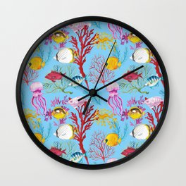 Coral Reef - All Together Water Wall Clock
