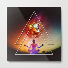 Yoga Energy by GEN Z Metal Print