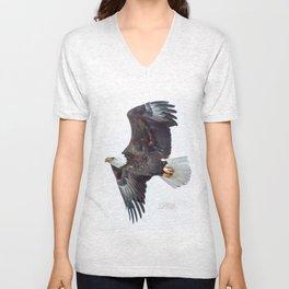 Eagle soaring Unisex V-Neck