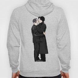 Kissing Sherlock and John Hoody