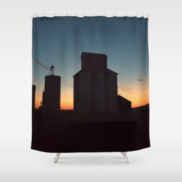 Silos at Sunrise Shower Curtain