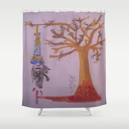 I Was Hung From A Tree Made Of Bones Of The Weak. The Branches The Bones Of The Liars The Thieves. Shower Curtain