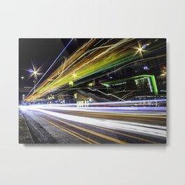 Light Trails 1 Metal Print