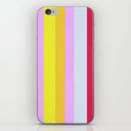 Striped Color Pastels iPhone Skin