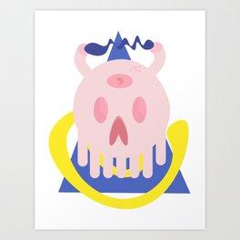 skull cerdito Art Print