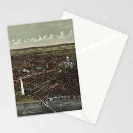 The City of Washington Birds-Eye view from the Potomac-looking North (1892) Stationery Cards