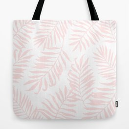 Tropical Palm Leaves - Pink Tote Bag