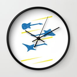 Electric Guitar Player Classical Electronical Wall Clock