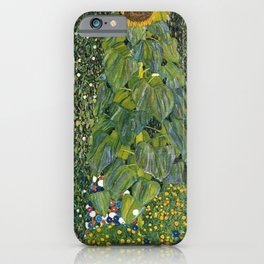 The Sunflower (and wildflowers) by Gustav Klimt iPhone Case