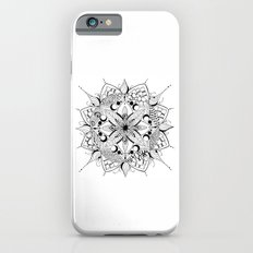 Mandala Art, India, Geometric, Tribal Art, Black and white Slim Case iPhone 6s