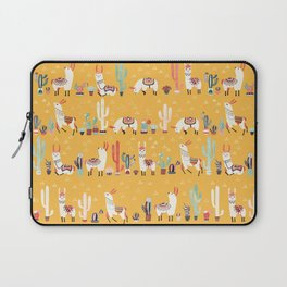 Happy llama with cactus in a pot Laptop Sleeve