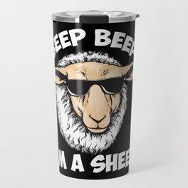 Beep Beep I'm A Sheep Travel Mug