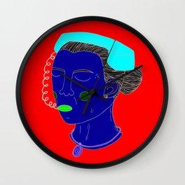 Anxious Lady Wall Clock